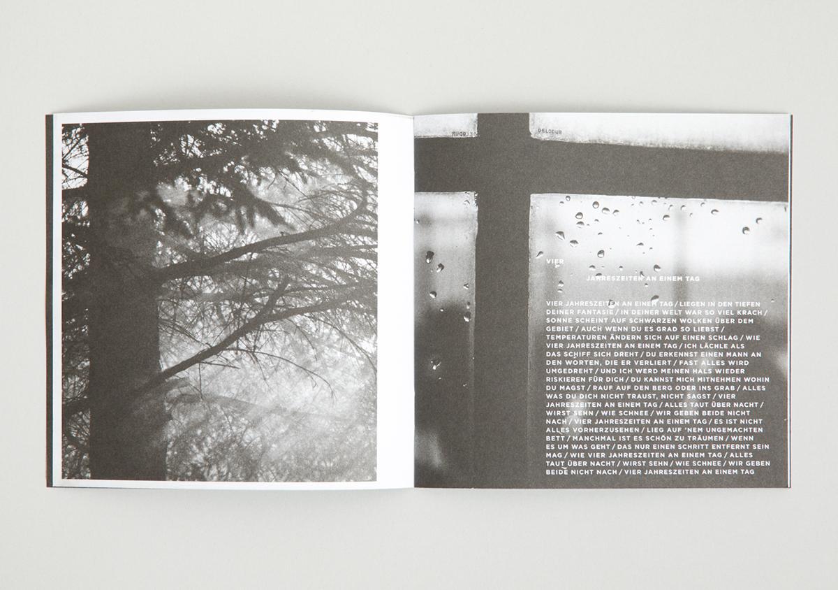 Clueso Handgepaeck 1 Album CD Booklet augeklappt Innenansicht Lyrics Songtext