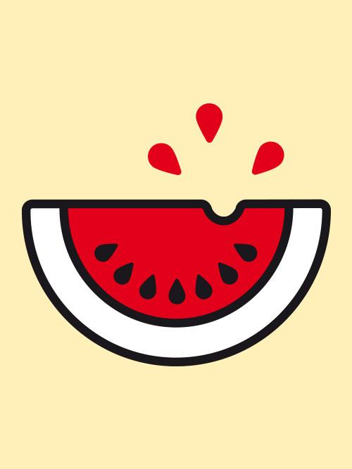 jungesblut spenden dkms gesamtschule kamen corporatedesign Icon Wassermelone gelber Hintergrund