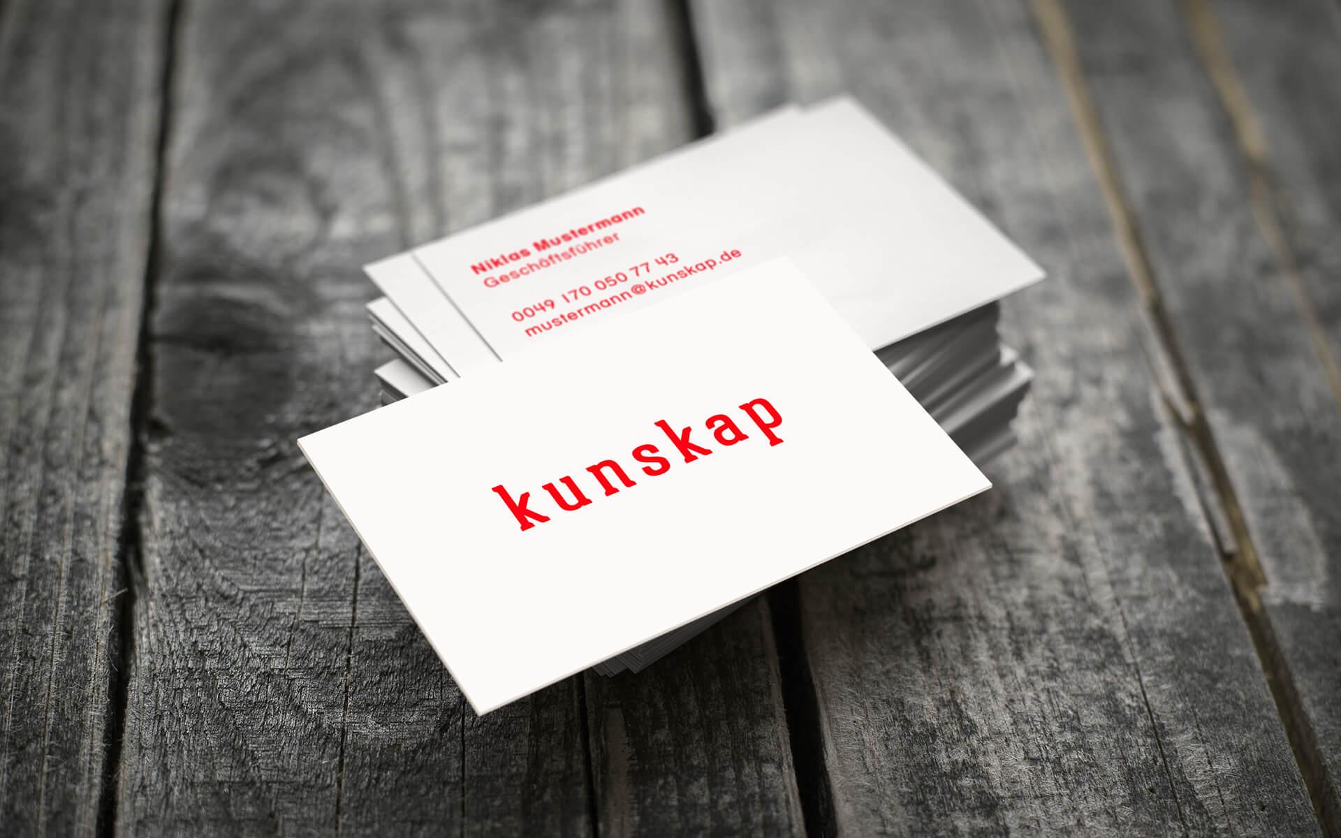 Kunskap Beratung Corporate Design Visitenkarten Logo